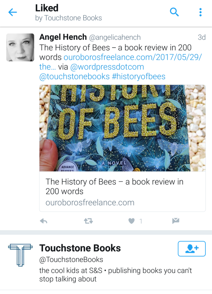 Touchstone Books Tweet